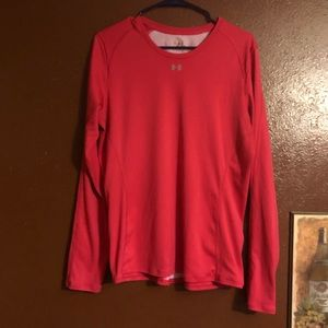 UNDER ARMOUR Size XL Pink Running Top